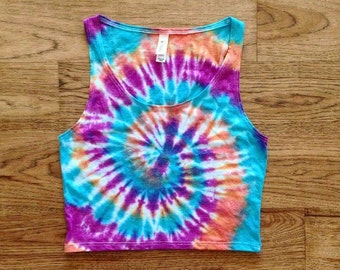 Tie Dye Crop Top - Handmade - Michigan made - Sizes XS/S and M/L - Festival Fashion - Hippie