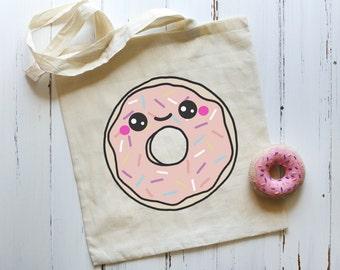 Happy Donut Tote Bag