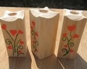 Wooden single flower vase