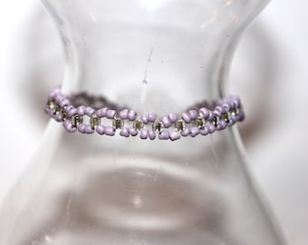 Pastel Beaded Bracelet - Purple - Comes with Gift Bag