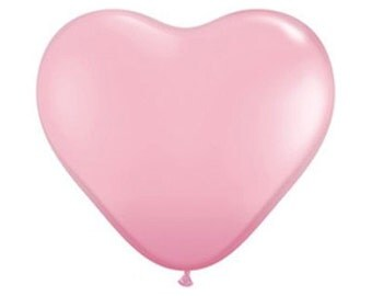 "Giant 36"" Heart Shaped Balloon // Pink // Red // White // Wedding // Valentine's Day"