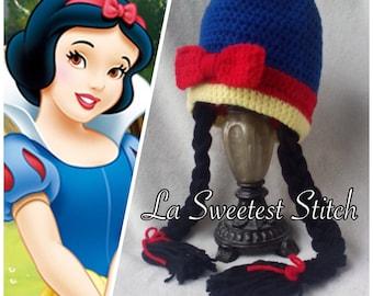 Snow White Crocheted Hat
