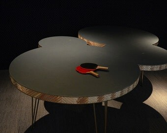 Table leg Spoke chrome