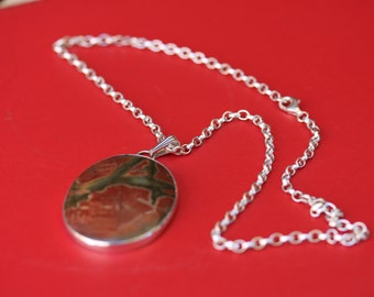 picture jasper stone in sterling silver