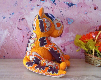 Hand knitted tiger toy - soft toy, plush toy ,stuffed toy