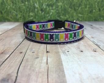 "The Madison II | Designer 1/2"" Width Dog Collar | CupcakePups Collars | Bunny Tails - Small Dog Collar"