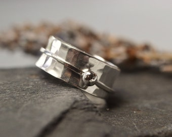 Sterling silver spinner ring, worry ring, meditation ring