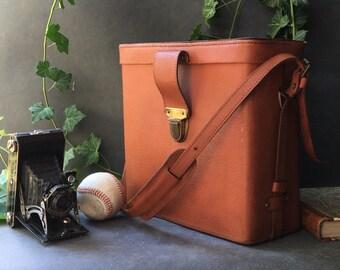 Vintage - mid century leather bag leather