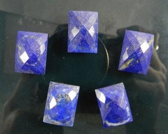 On sale - 13x18mm - Natural - Lapis lazuli - Rectanglular - faceted cab - Gemstone - Semi precious stone - loose stone - 1 pc - SHST0248