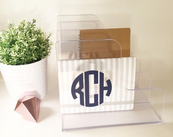 Desktop Office File Folder Monogram Personalized Sorter Divider