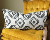 Aztec Lumbar Pillow Cover - 14x28 - decorative pillows