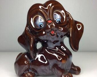 vintage ceramic dog figurine Japan