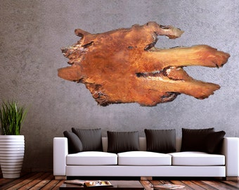 Large Wood Wall Art & Wall Sculptures - Beautiful big wood slabs handcrafted into Unique, One of a Kind - Rustic and Modern Decor wall decor