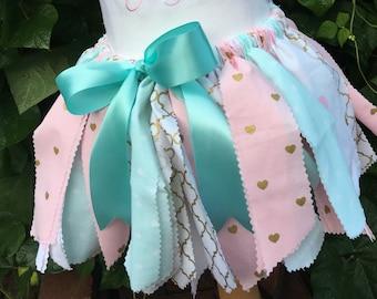 Baby Fabric Tutu, Baby Girl Fabric Tutu, Shabby Chic Tutu, Baby Shabby Chic Tutu, Shabby Chic Skirt, Baby Skirt, Baby Shabby Chic Tutu