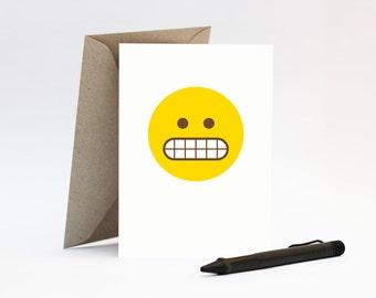 Eek! emoji card – Sorry, Please forgive me, Apologise to friend, Apology
