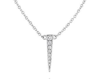 Diamond Dagger Necklace 14K **SALE**