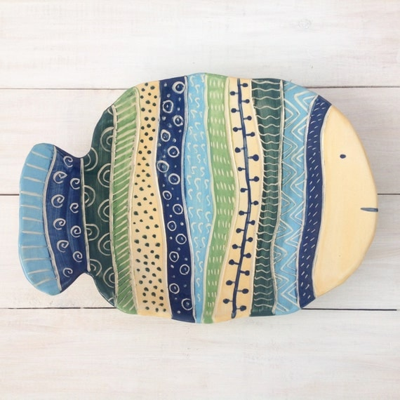 Ceramic dish ceramic plate decorative plate wall decor for Wall decor dishes