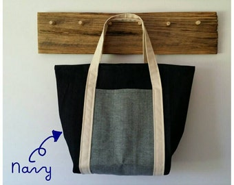 Denim lunch bag
