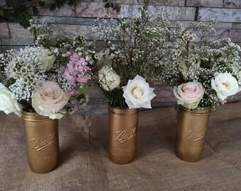Tall mason jar vases set of 3