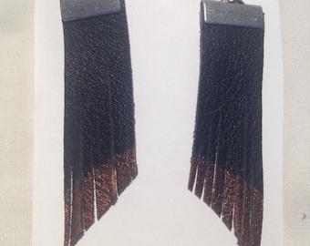 Bronze-tipped Fringe earrings