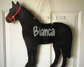 Horse Wooden Door Hanger // Farm Wreath // Rancher Door Decor // Southern Door Candy // Horseback Riding Wreath // Horse Lover Decor