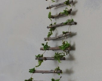 Fairy Ladder Handcrafted by Olive, Fairy Accessories, Fairy House, Fairy Door, Fairy Window, Miniatures