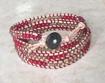 Wrap, Bracelet, Beaded