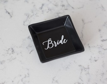 Bride Ring Dish - Ring Holder - Personalized Gift - Bridal Shower Gift - Wedding Gift - Engagement Gift