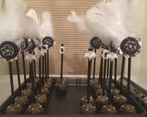 Great Gatsby Themed Cake Pops