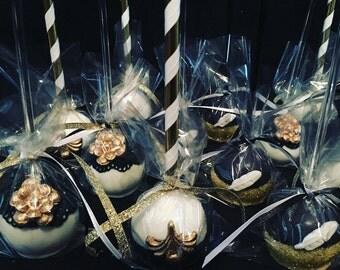 Great Gatsby Themed Cake Pops Roaring 20's
