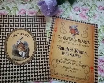 Personalized Alice in Wonderland Invitation, Free Custom as you Wish