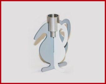 white candlestick holder/silver candle holder/living room decor/votive candle holder/meditation candle