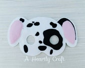 Dalmatian Puppy Dog Felt Mask  Birthday Party Halloween Dress Up Costume