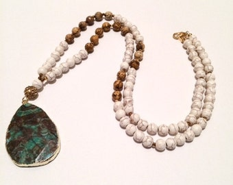 Gemma Ocean Agate Necklace