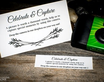 Disposable Camera Placecards | Set of Wedding Placecards | Ceremony & Reception Placement Cards