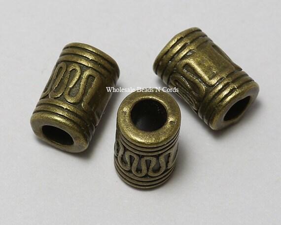 Antiqued bronze mm spacer beads tube or column shape