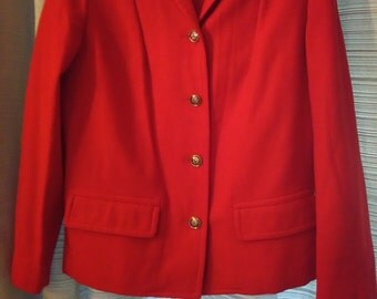 Vintage Pendleton women's wool jacket, light weight. Size 10.