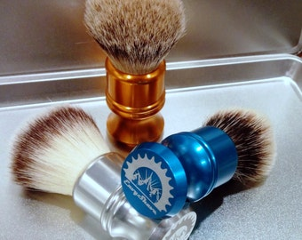 25mm Luxury silvertip badger brush- Alluminati Classic