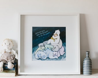 I Love You More than All the Hairs on All the Bears - Beautiful New Wall Art