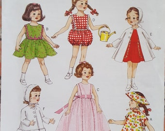 """Butterick 6001 18"""" Doll Clothes"""