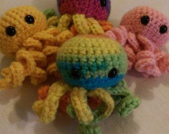 Amigurumi Octopus - Custom Colour Crochet Octopus - Sea Creature - Cute Crochet Octopus