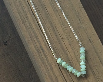 Jade chevron necklace