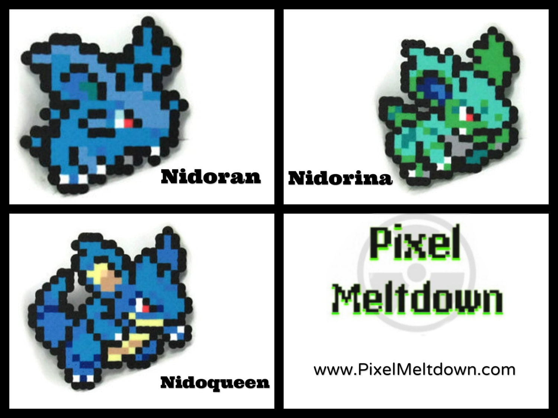 Nidoran female Nidorina Nidoqueen Pokemon Pixel Art