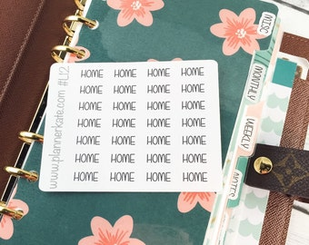 L12 || HOME Divider Label Stickers