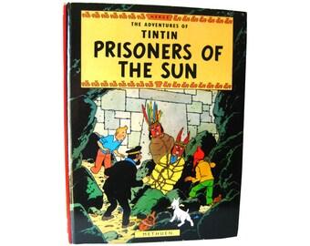 The Adventures of Tintin Prisoners of The Sun / Comic Book / Vintage Comic Strip / Graphic Novel / Cartoon Book