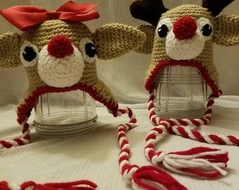 Reindeer hat - photo prop - Christmas hat
