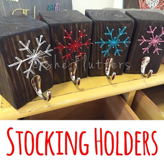 Pre Order Sale Snowflake Christmas Stocking Holder By Sheflutters