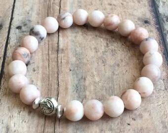 Rhodonite Bracelet. Fertility, Pregnancy Bracelet. TTC Bracelet. Handmade Beaded Bracelet.