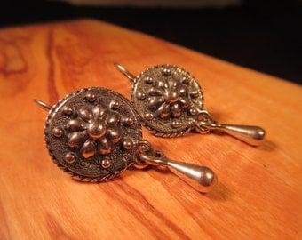 Cool Retro Sterling Silver Earrings