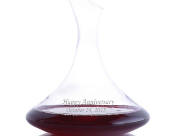 Personalized Engraved Crystal Ultra Magnum Wine Decanter By Ravenscroft-Free Shipping